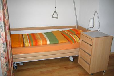 Krankenbett Pflegewohnung